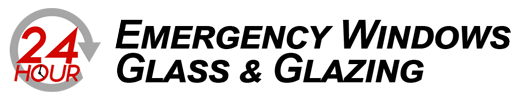 Emergency windows and glazing london logo. Window repair and glazing london