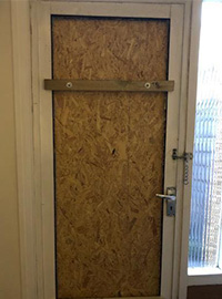 Door Board Up North london